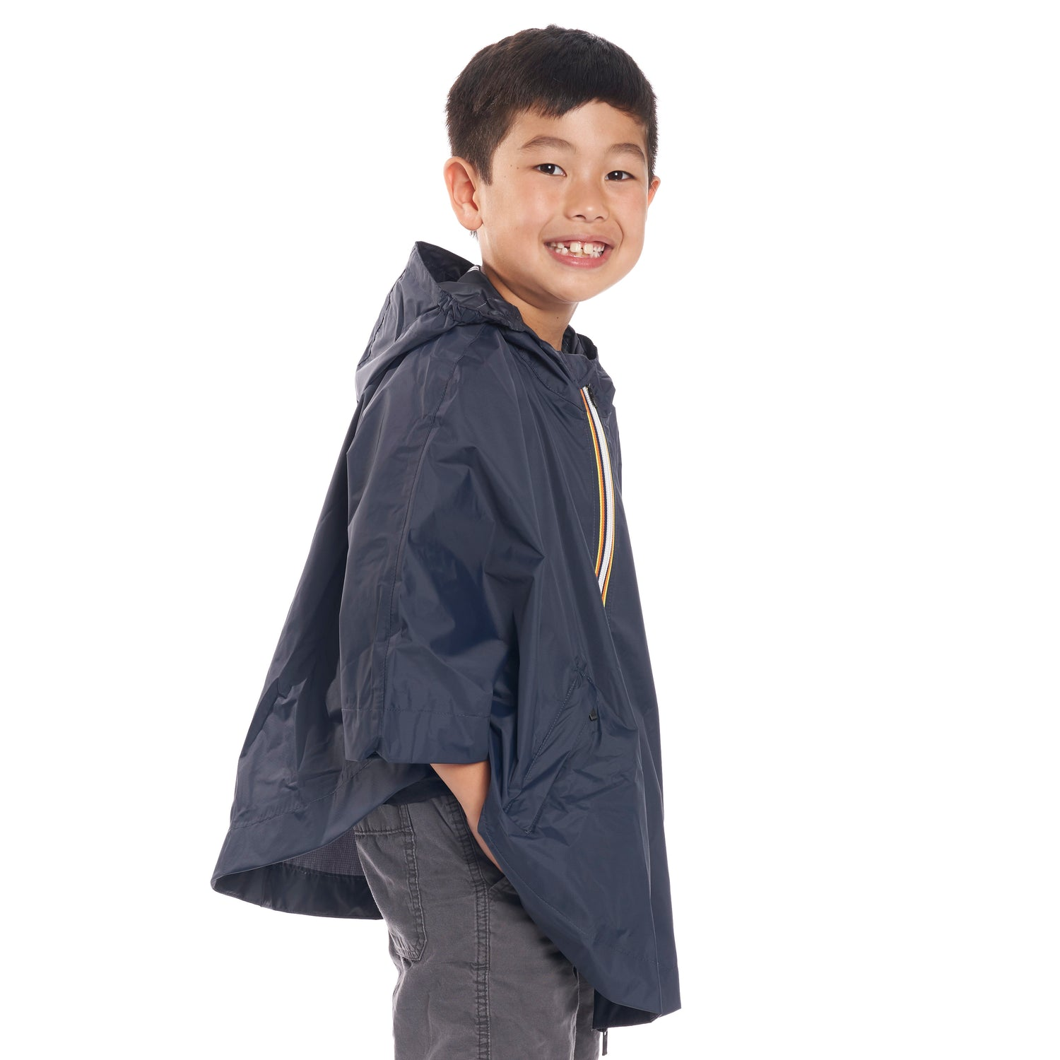 Kids Le Vrai 3.0 Morgan Poncho Blue Depth - Side