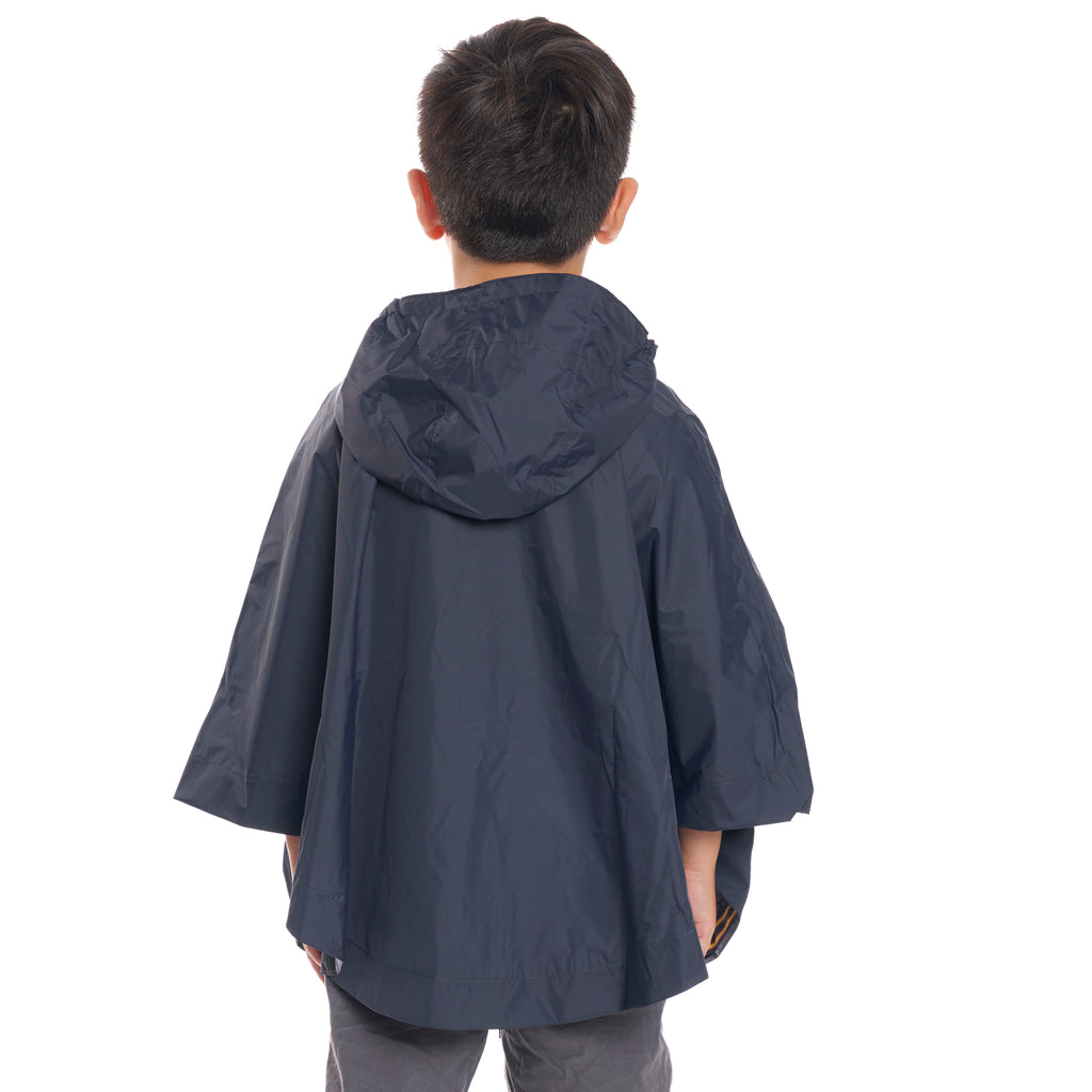 Kids Le Vrai 3.0 Morgan Poncho Blue Depth - Back