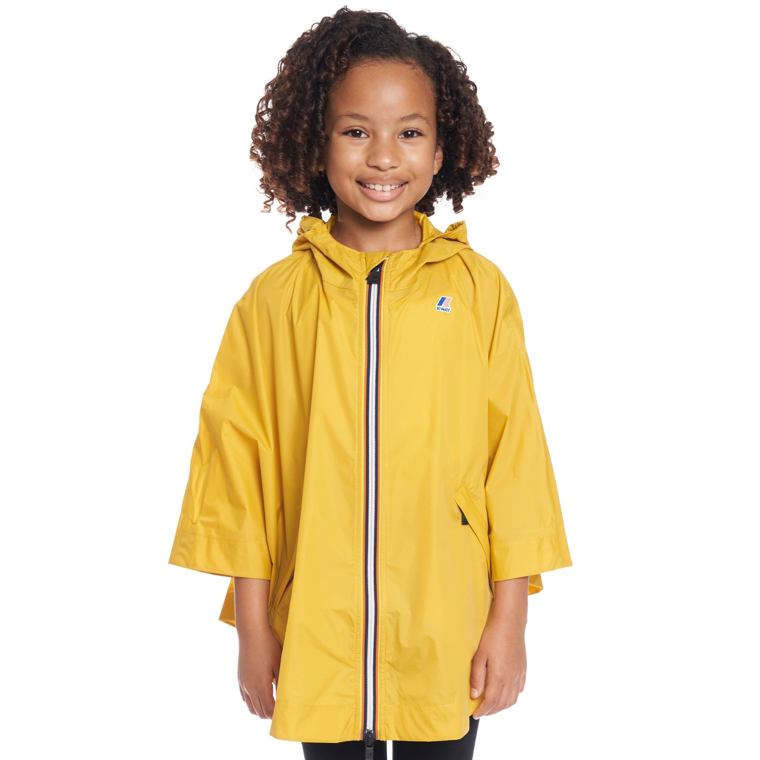 Kids Le Vrai 3.0 Morgan Poncho Yellow Mustard - Front
