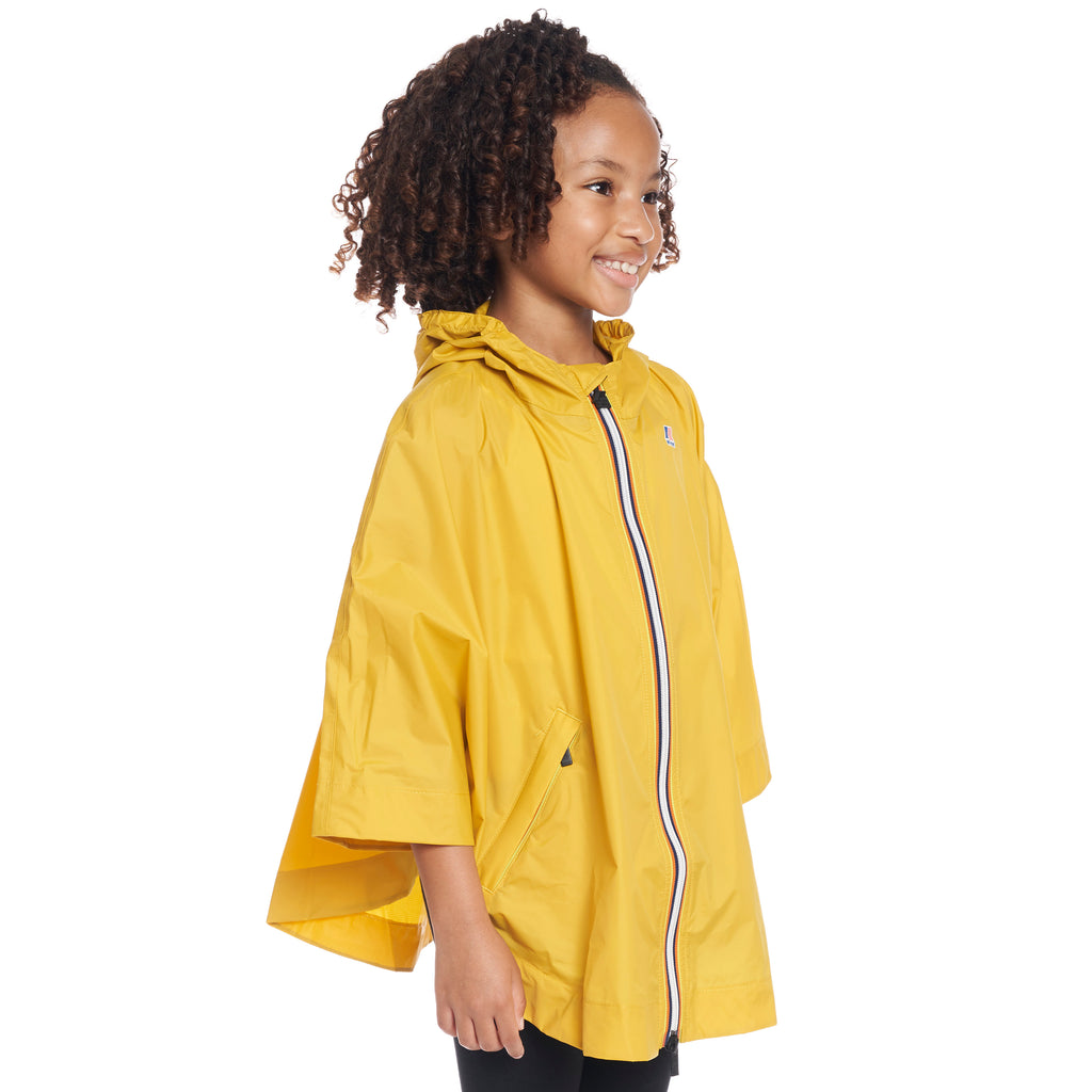 Kids Le Vrai 3.0 Morgan Poncho Yellow Mustard - Side