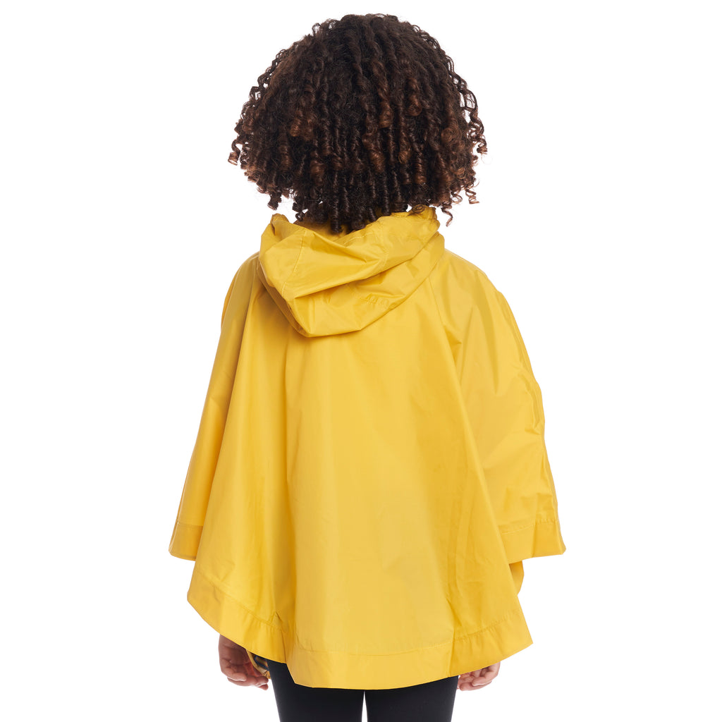Kids Le Vrai 3.0 Morgan Poncho Yellow Mustard - Back