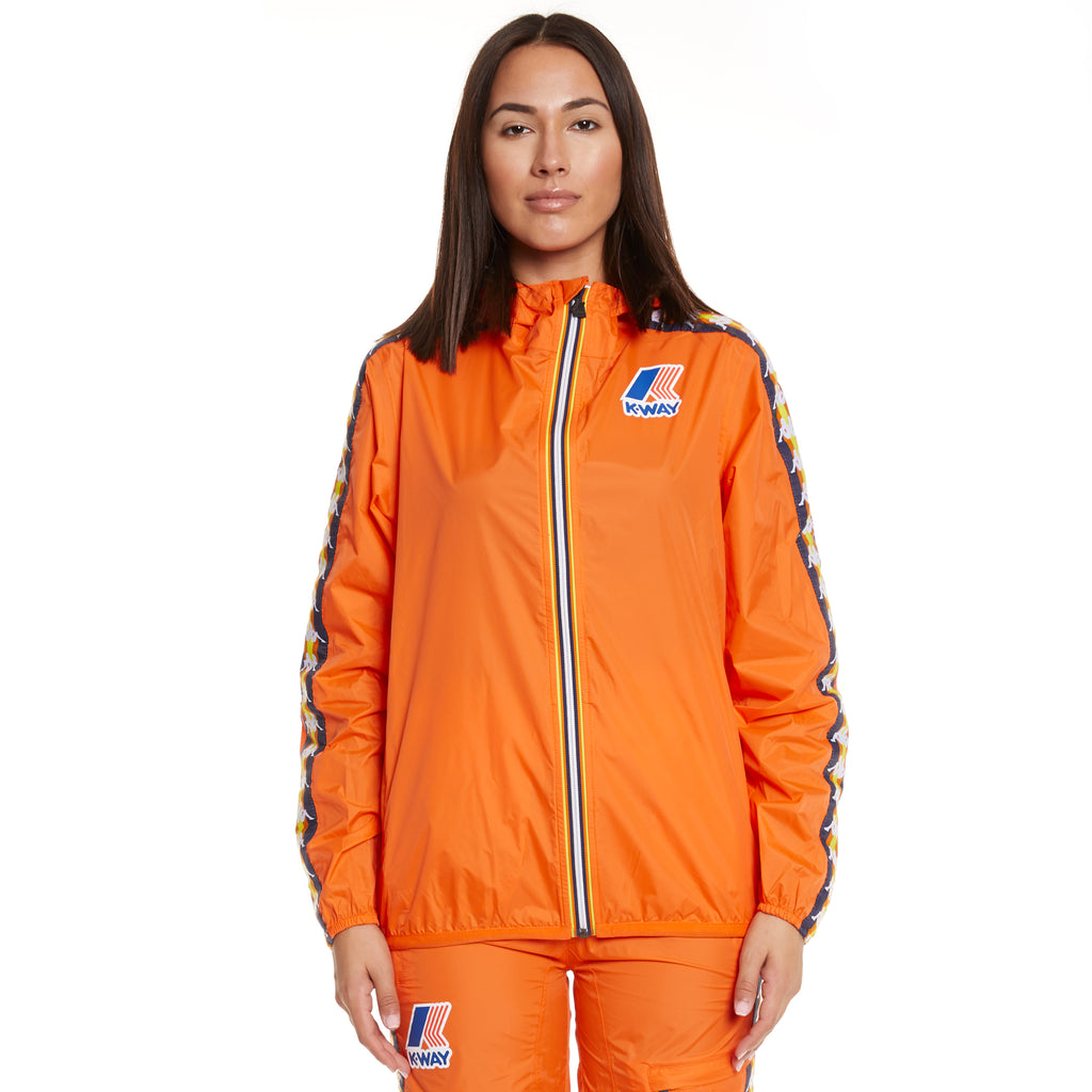 Women's K-Way X Kappa Le Vrai 3.0 Claude Banda Orange Flame - Front