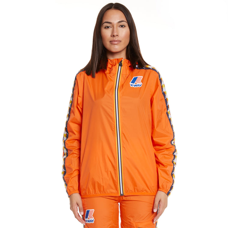 Women's K-Way X Kappa Le Vrai 3.0 Claude Banda Orange Flame