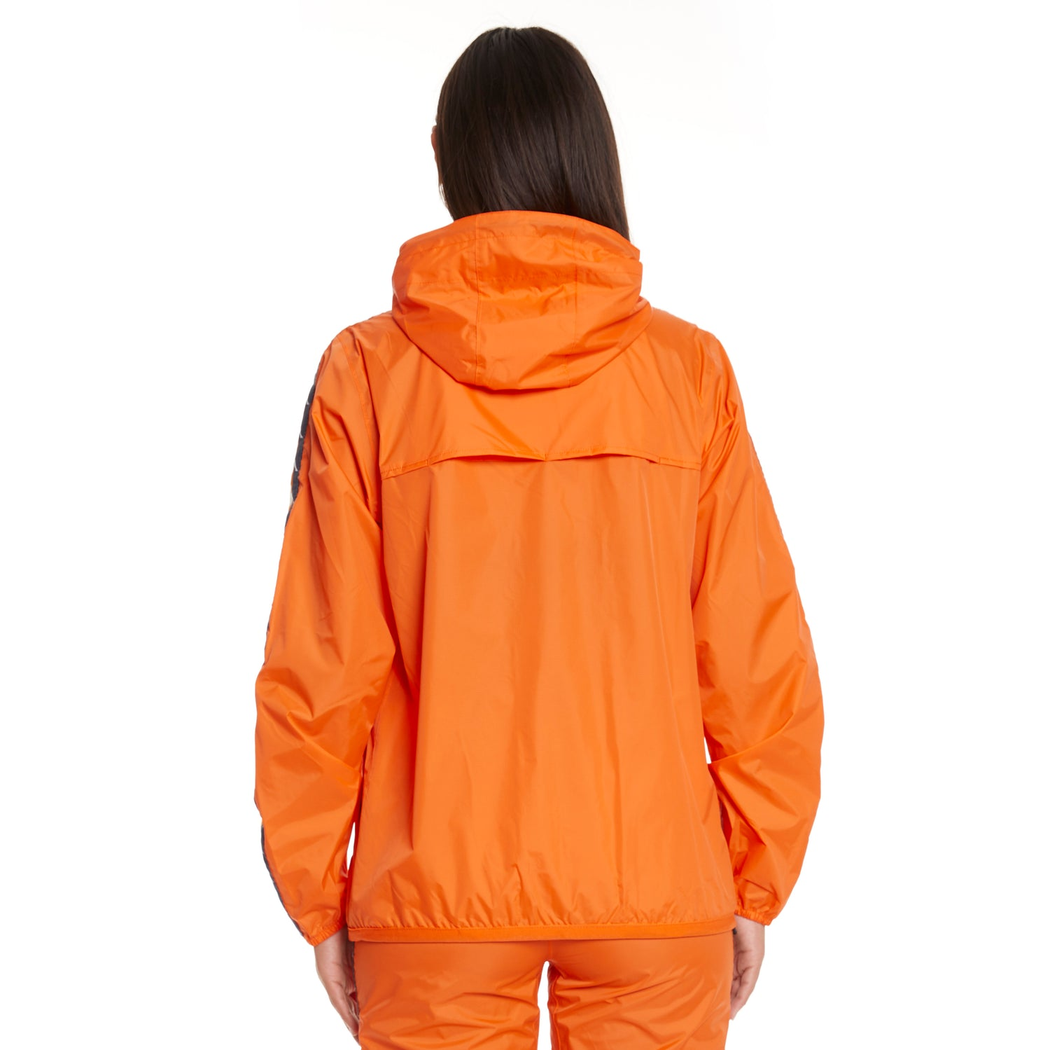 Women's K-Way X Kappa Le Vrai 3.0 Claude Banda Orange Flame - Back