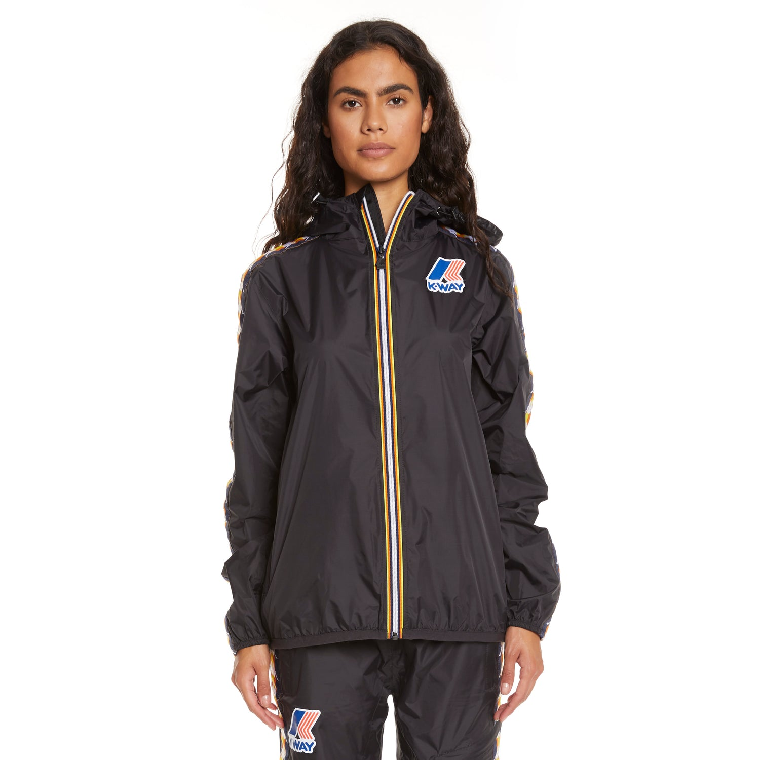 Women's K-Way X Kappa Le Vrai 3.0 Claude Banda Black - Front