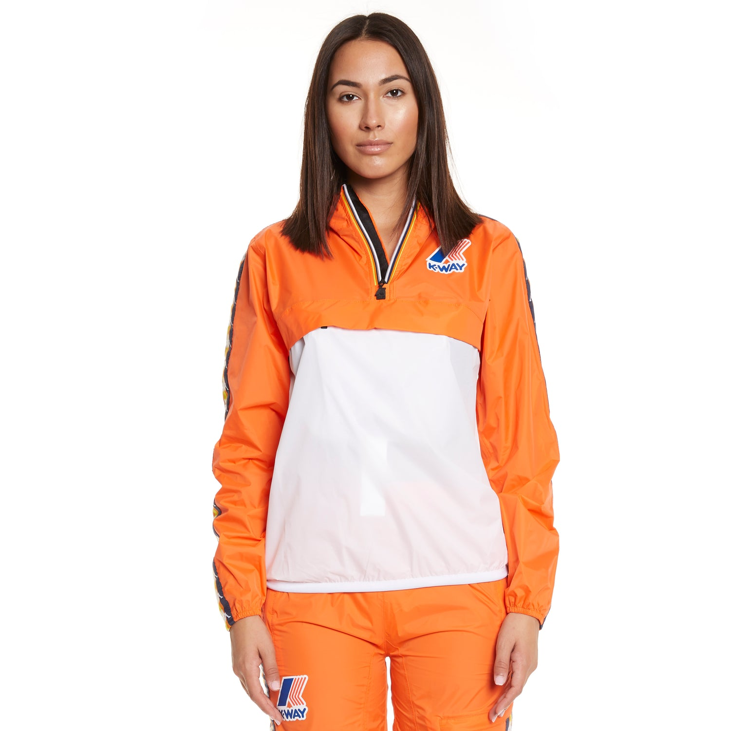 Women's K-Way X Kappa Le Vrai 3.0 Leon Banda Orange Flame - Front