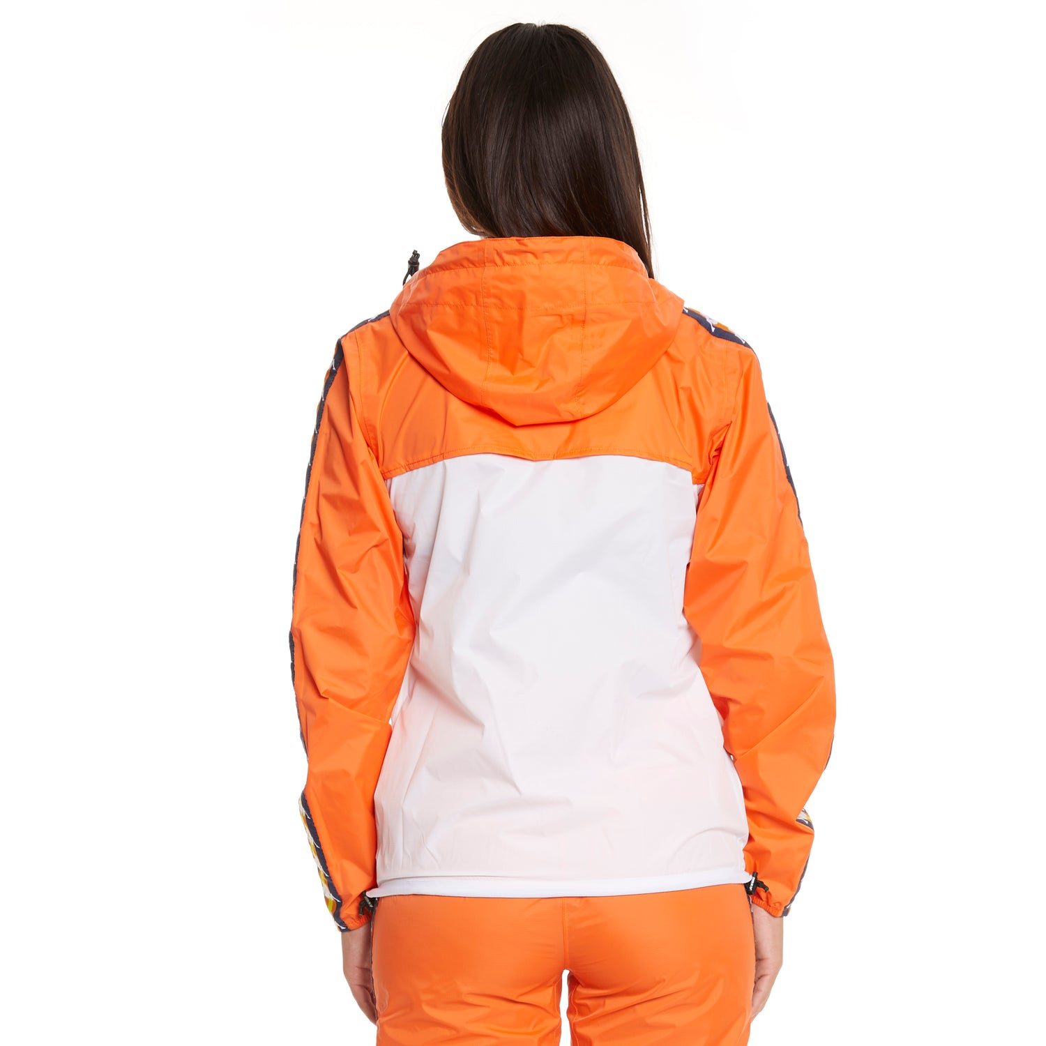 Women's K-Way X Kappa Le Vrai 3.0 Leon Banda Orange Flame - Back