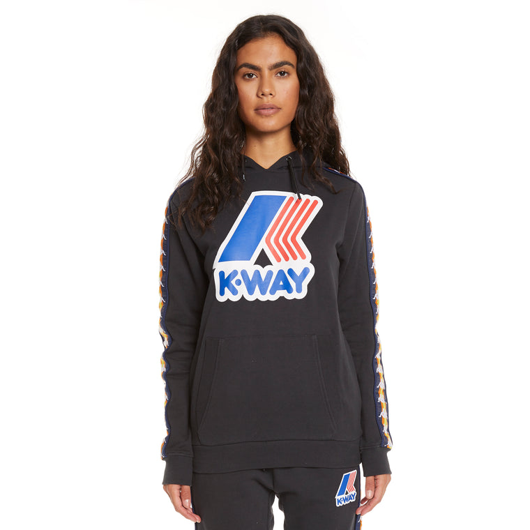 Women's K-Way X Kappa Le Vrai 3.0 Bob Banda Black