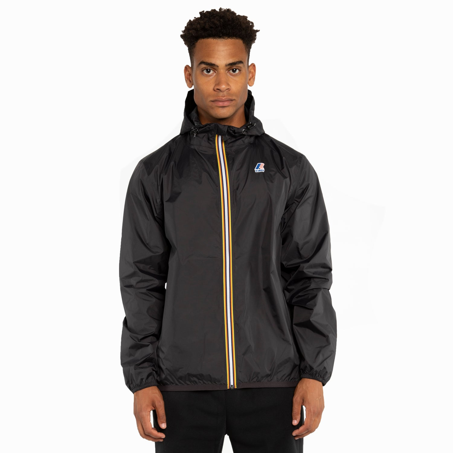 K-Way Men's Le Vrai 3.0 Claude Full Zip Jacket Black