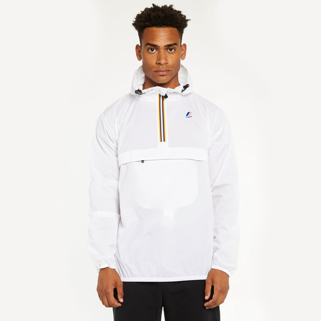 K-Way Men's Le Vrai 3.0 Leon Half Zip Jacket White