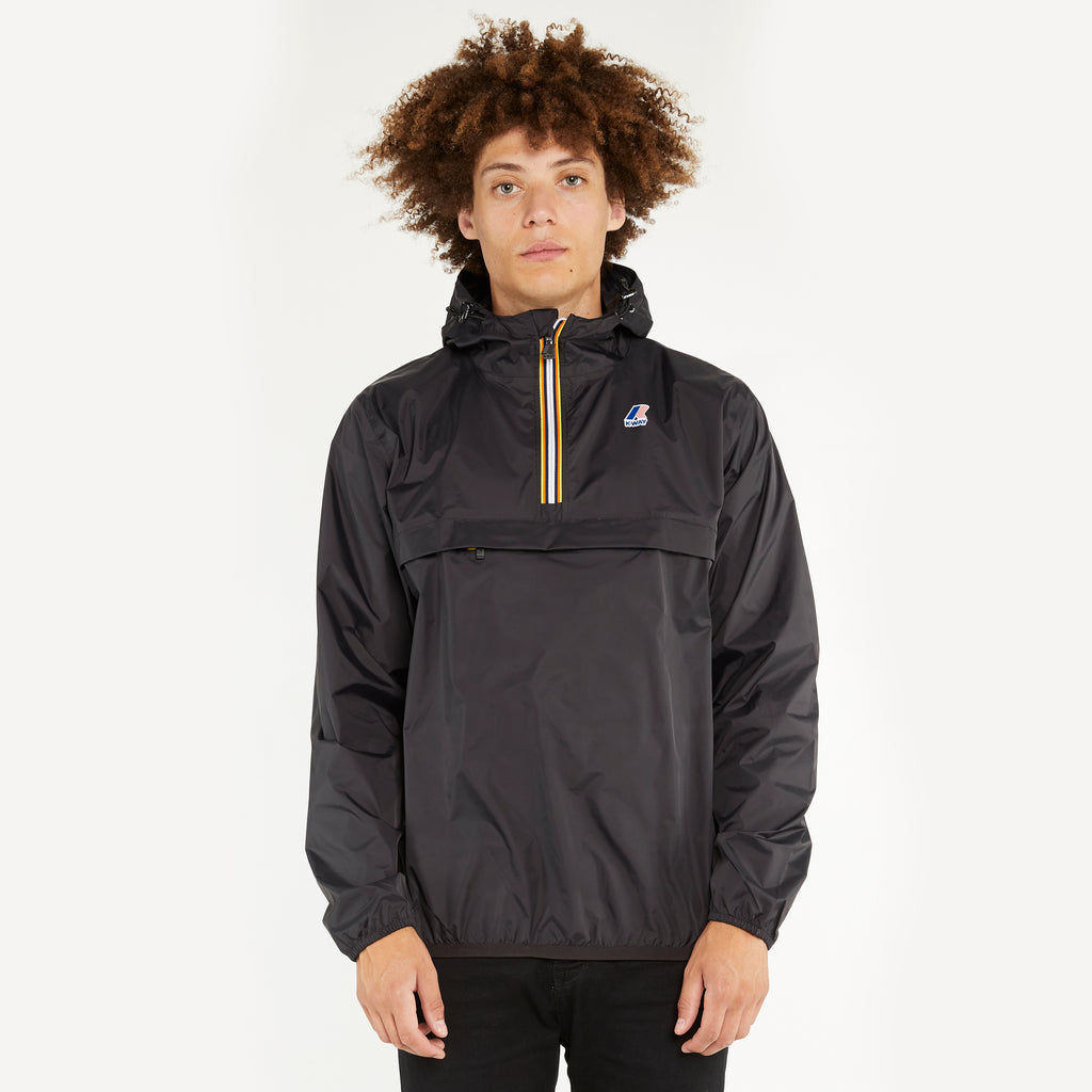 K-Way Men's Le Vrai 3.0 Leon Half Zip Jacket Black