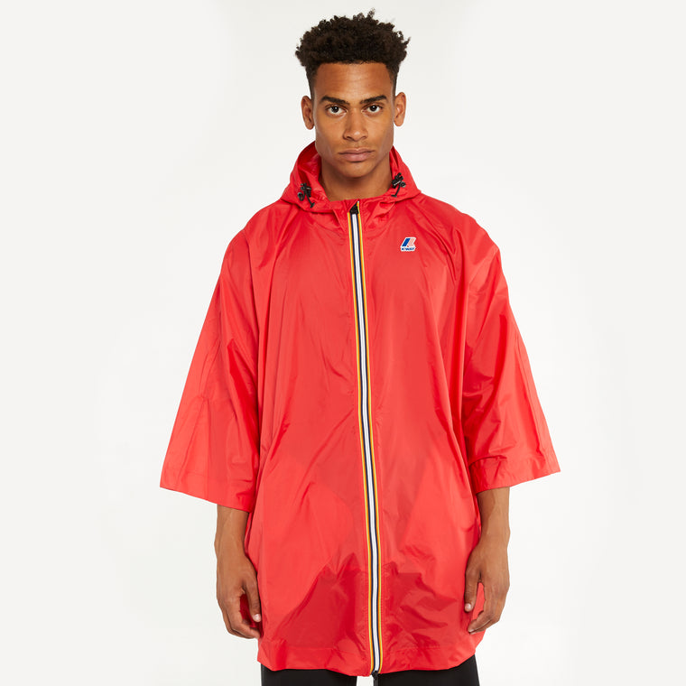 Men's Le Vrai 3.0 Morgan Full Zip Poncho Red