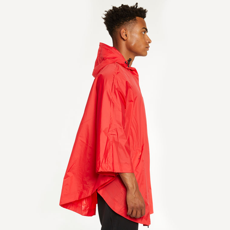 K-Way Men's Le Vrai 3.0 Morgan Full Zip Poncho Red