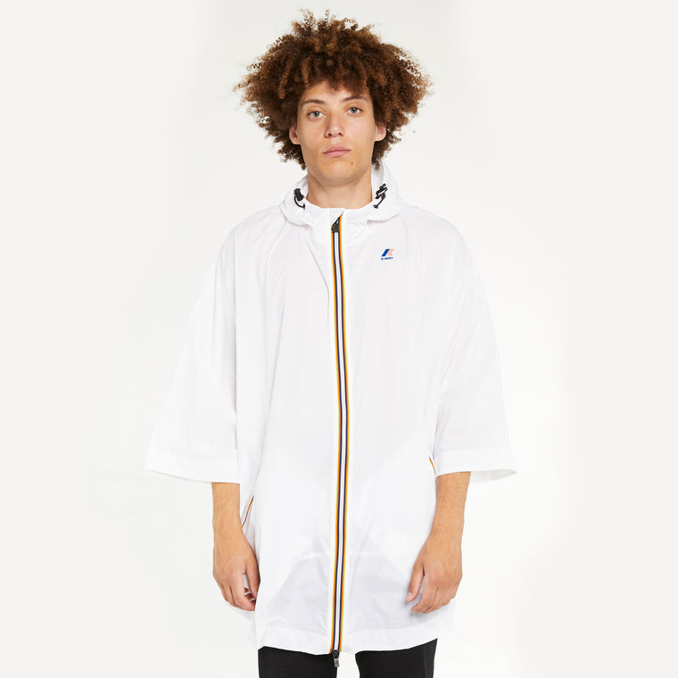 Men's Le Vrai 3.0 Morgan Full Zip Poncho White