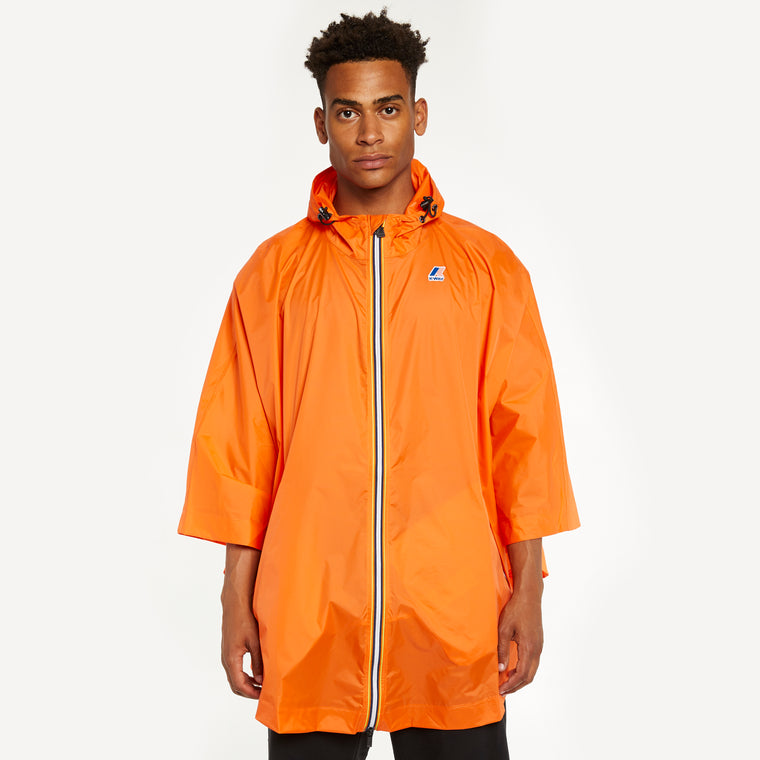 Men's Le Vrai 3.0 Morgan Full Zip Poncho Orange Flame