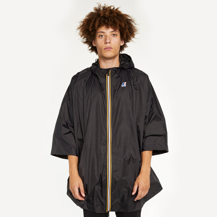 Men's Le Vrai 3.0 Morgan Full Zip Poncho Black