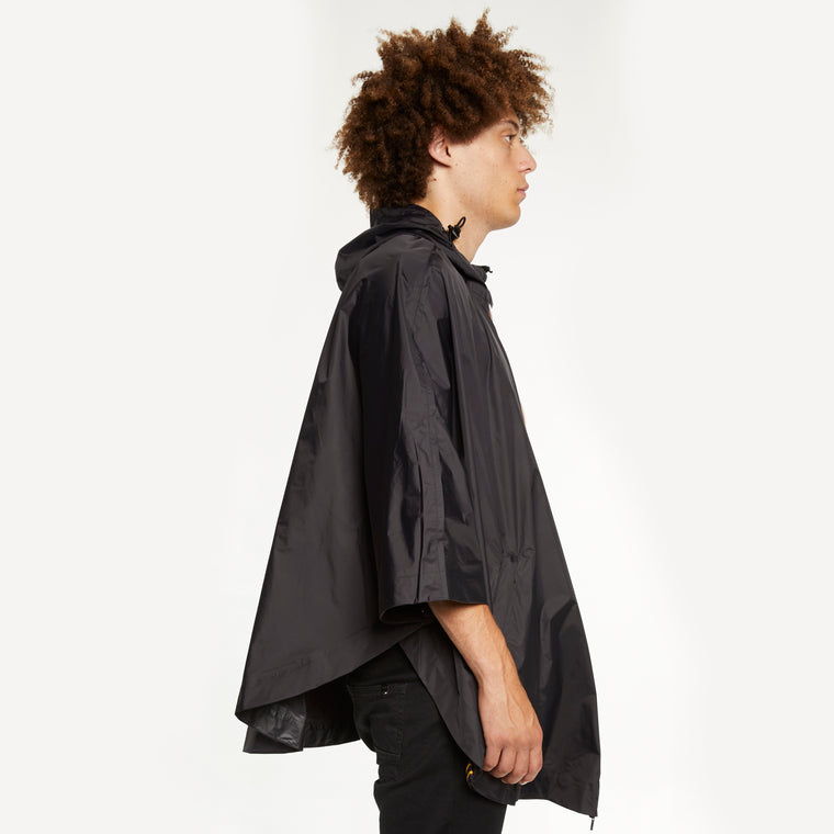 K-Way Men's Le Vrai 3.0 Morgan Full Zip Poncho Black