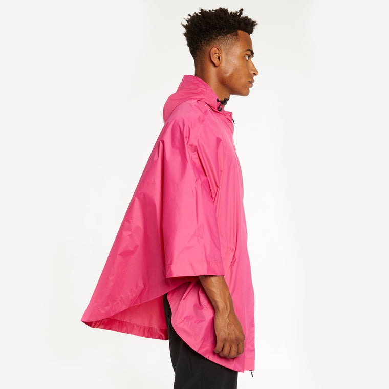 K-Way Men's Le Vrai 3.0 Morgan Full Zip Poncho Fuchsia Magenta