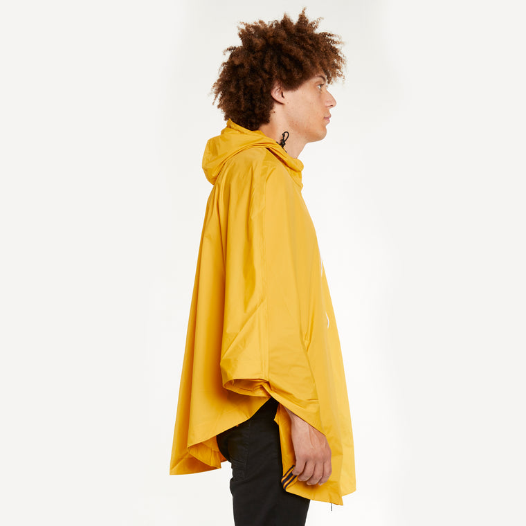 K-Way Men's Le Vrai 3.0 Morgan Full Zip Poncho Yellow Mustard