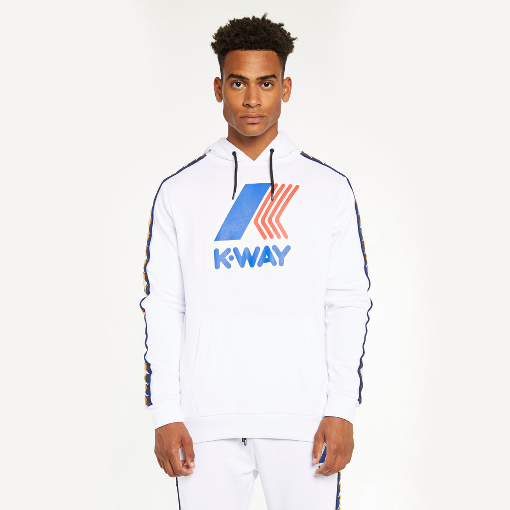 Men's K-Way X Kappa Le Vrai 3.0 Bob Banda White