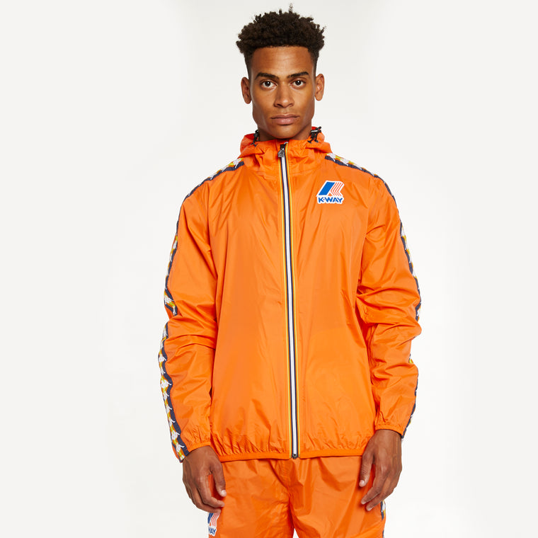 Men's K-Way X Kappa Le Vrai 3.0 Claude Banda Orange Flame