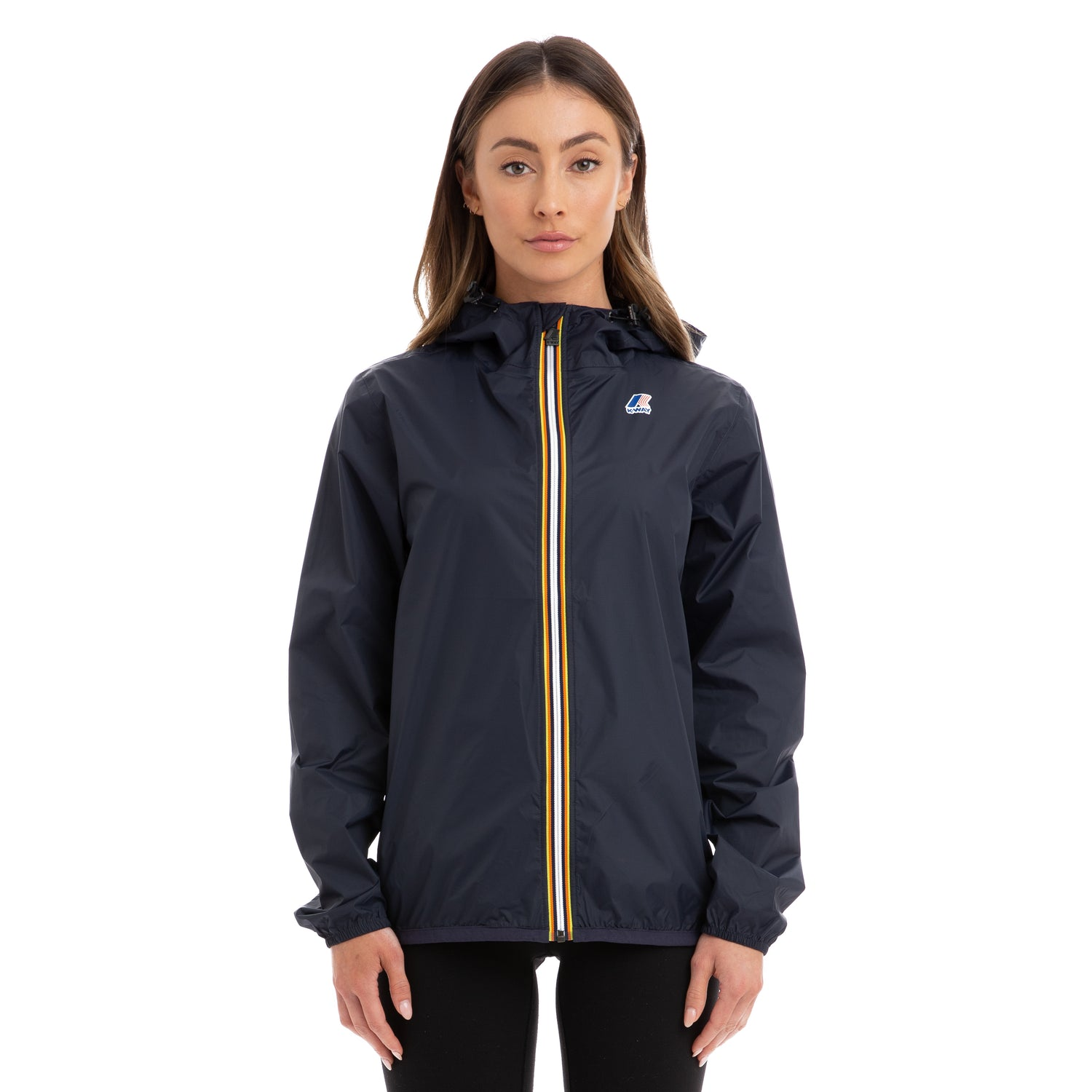 K-Way Women's Le Vrai 3.0 Claude Full Zip Jacket Blue Depth