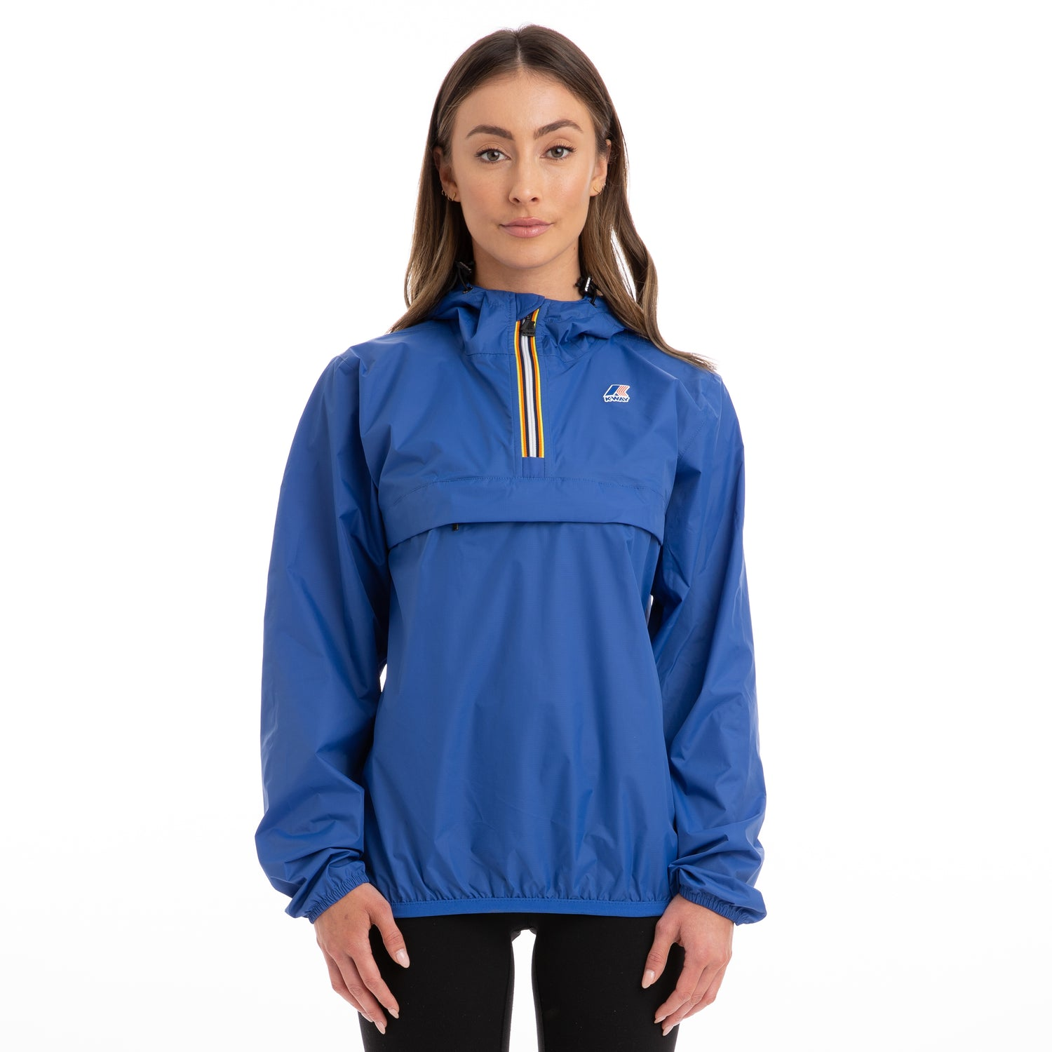K-Way Women's Le Vrai 3.0 Leon Half Zip Jacket Jacket Blue Royal