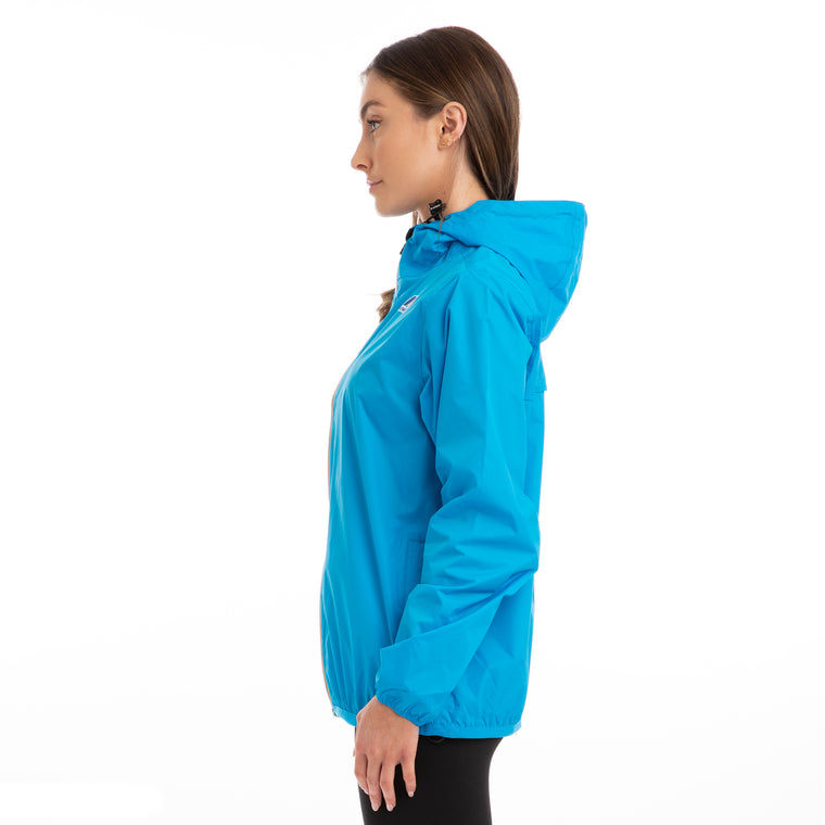 K-Way Women's Le Vrai 3.0 Claude Full Zip Jacket Blue California