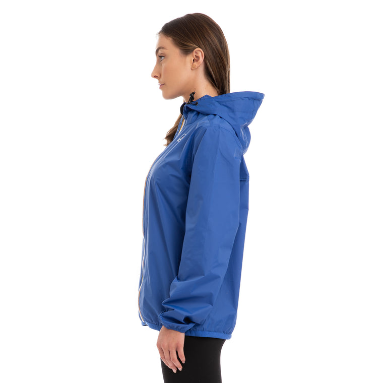 K-Way Women's Le Vrai 3.0 Claude Full Zip Jacket Blue Royal