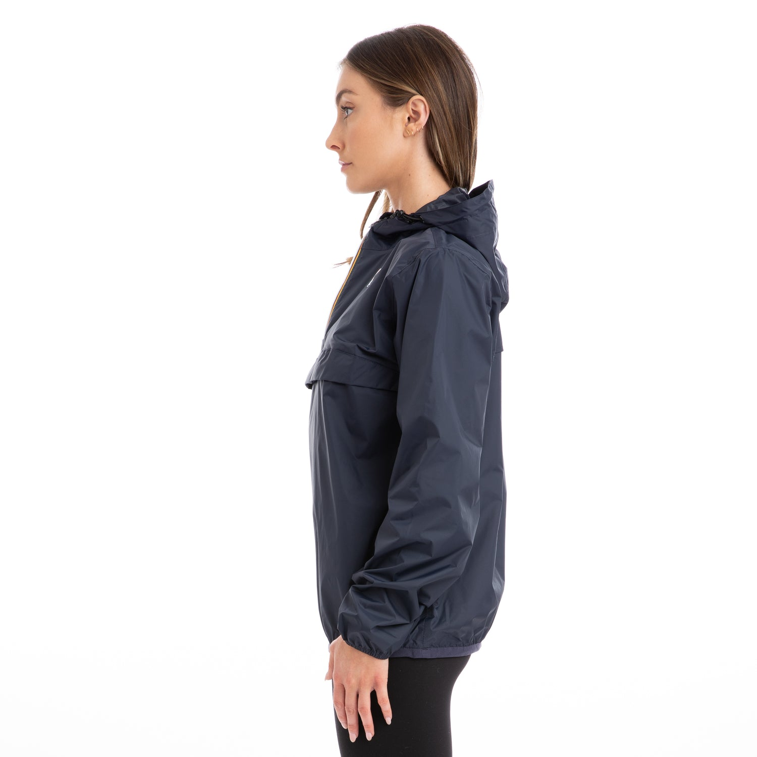 K-Way Women's Le Vrai 3.0 Leon Half Zip Jacket Blue Depth