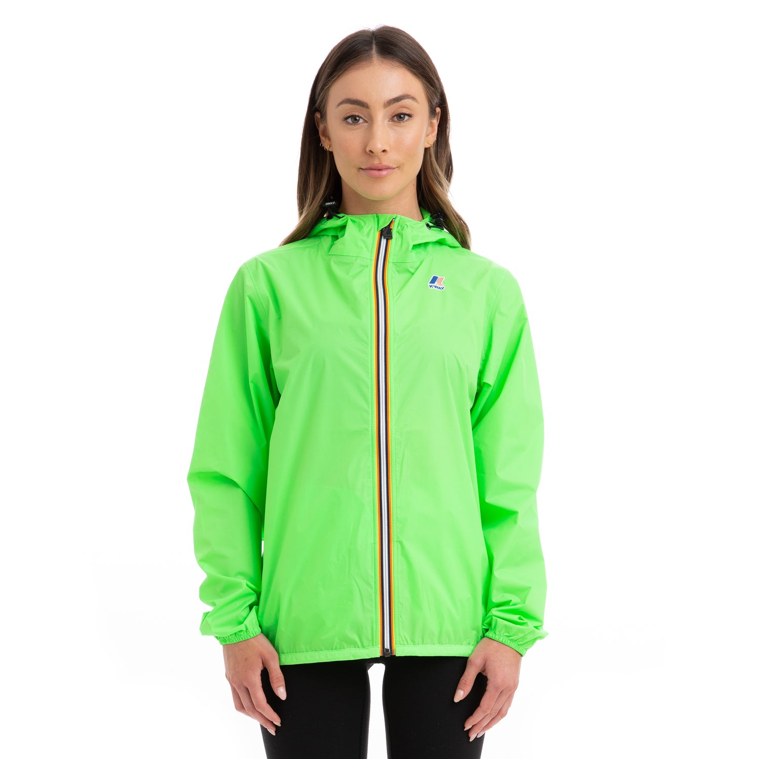 K-Way Women's Le Vrai 3.0 Claude Full Zip Jacket Green Fluo