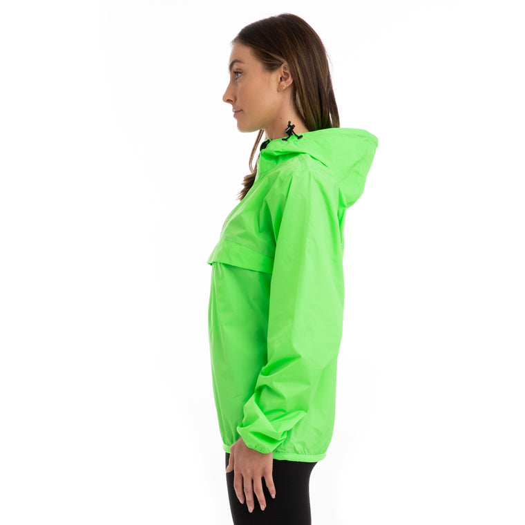 K-Way Women's Le Vrai 3.0 Leon Half Zip Jacket Green Fluo