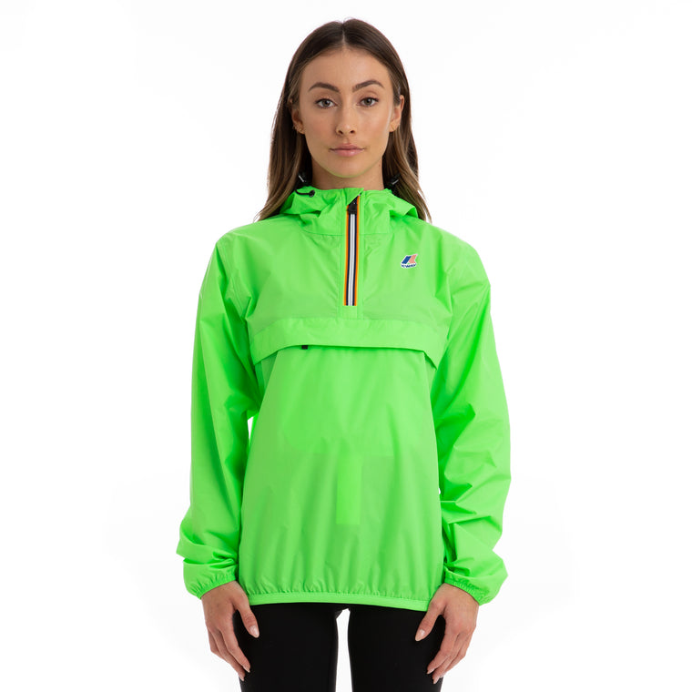 Women's Le Vrai 3.0 Leon Half Zip Jacket Green Fluo