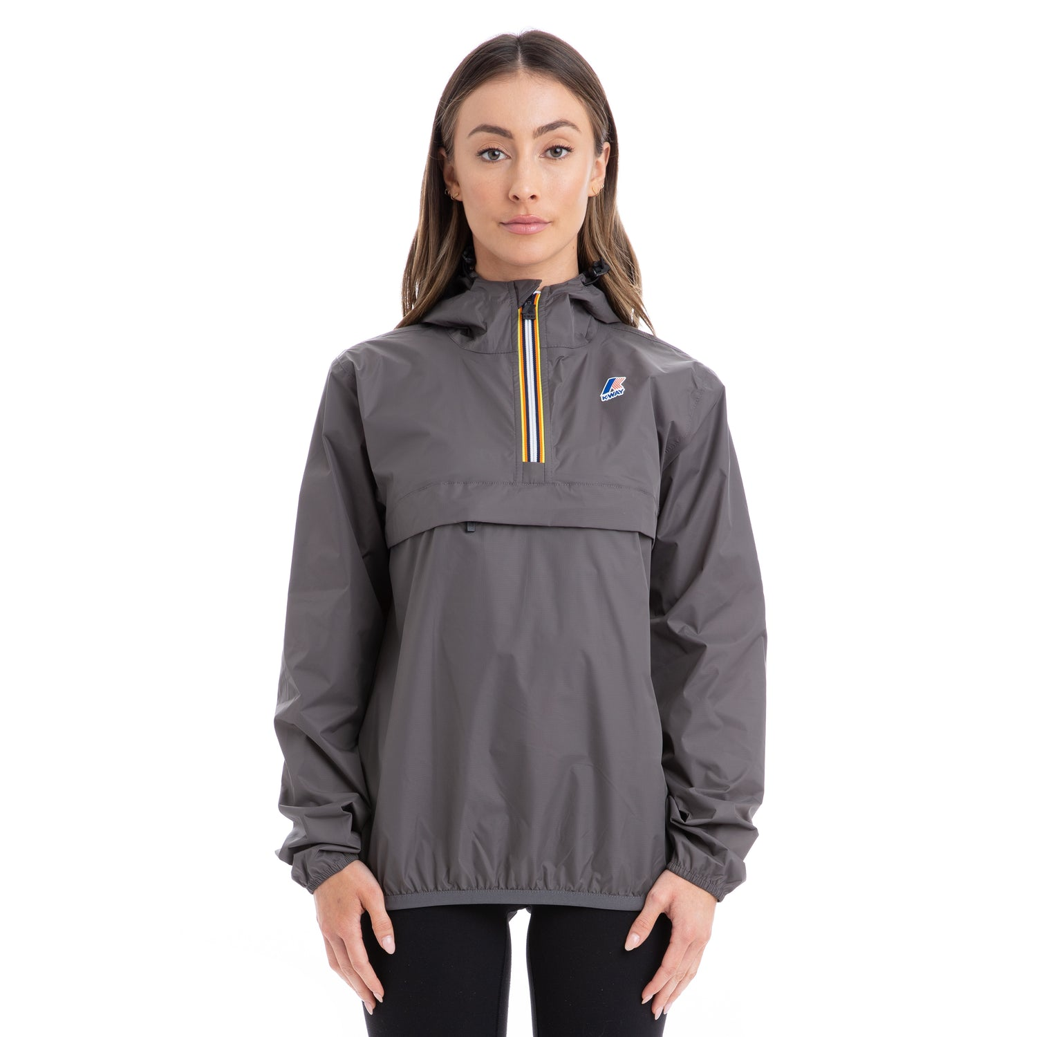 K-Way Women's Le Vrai 3.0 Leon Half Zip Jacket Grey Smoke
