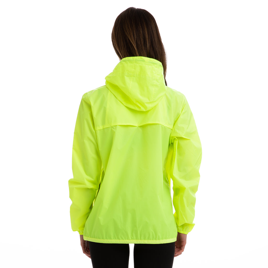 K-Way Women's Le Vrai 3.0 Claude Full Zip Jacket Yellow Fluo