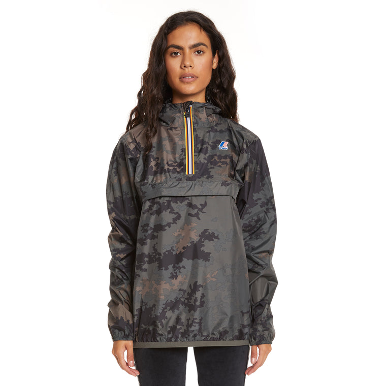Women's Le Vrai 3.0 Leon Half Zip Jacket Graphic Dark Camo