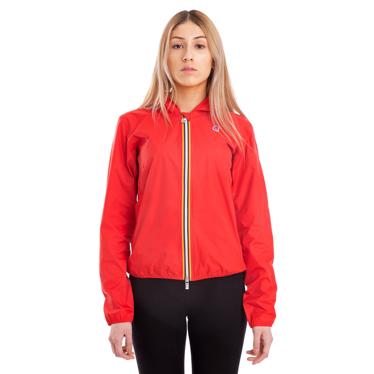 Women's Lil Plus Dot Full Zip Jacket Red Hibiscus