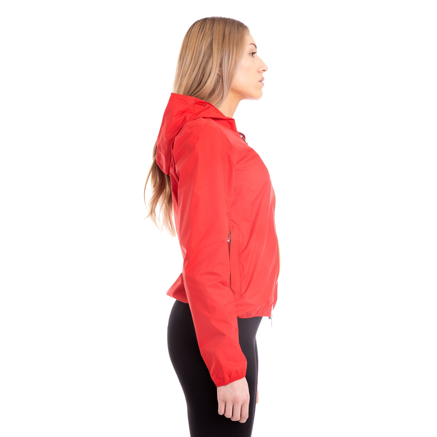 K-Way Womens Lil Plus Dot Jacket Red Hibiscus