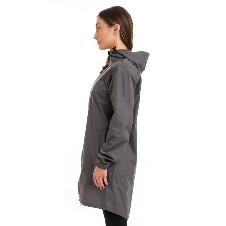 K-Way Women's Le Vrai 3.0 Eiffel Full Zip Jacket Jacket Grey Smoke