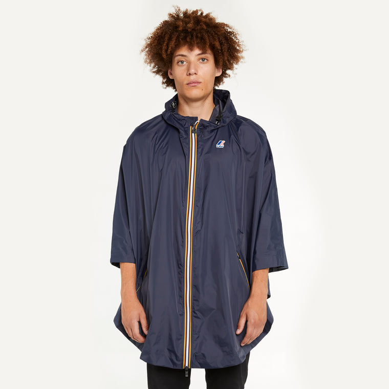 Men's Le Vrai 3.0 Morgan Full Zip Poncho Blue Depth