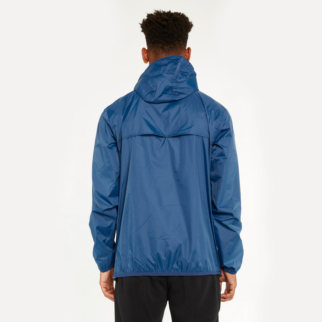 K-Way Men's Le Vrai 3.0 Leon Half Zip Jacket Blue Deep