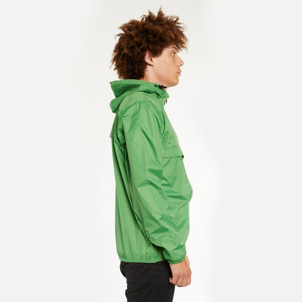 K-Way Men's Le Vrai 3.0 Leon Half Zip Jacket Green Md