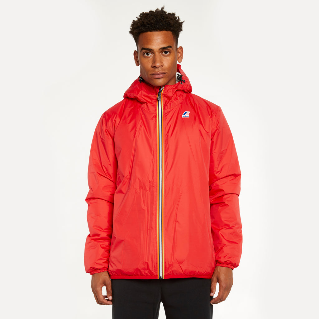 K-Way Men's Le Vrai 3.0 Claude Orsetto Full Zip Lined Jacket Red