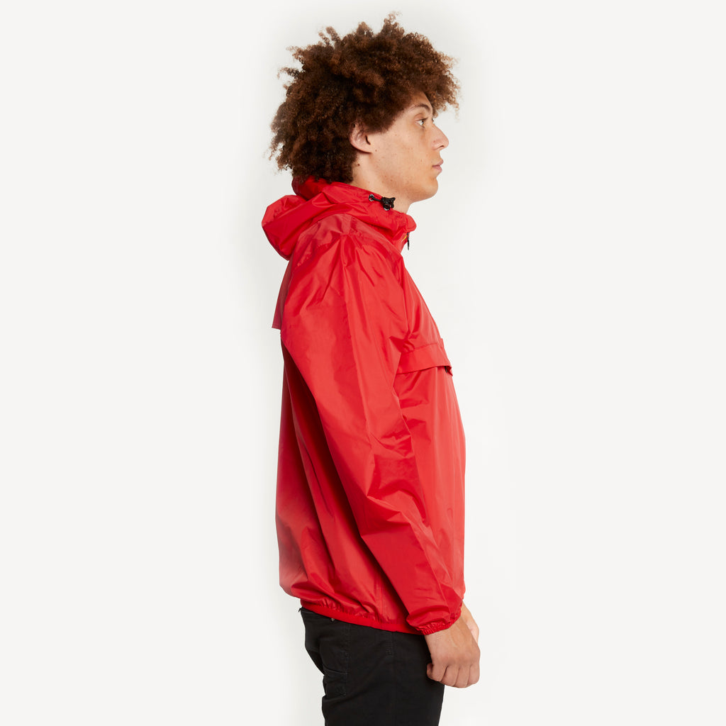 K-Way Men's Le Vrai 3.0 Leon Half Zip Jacket Red