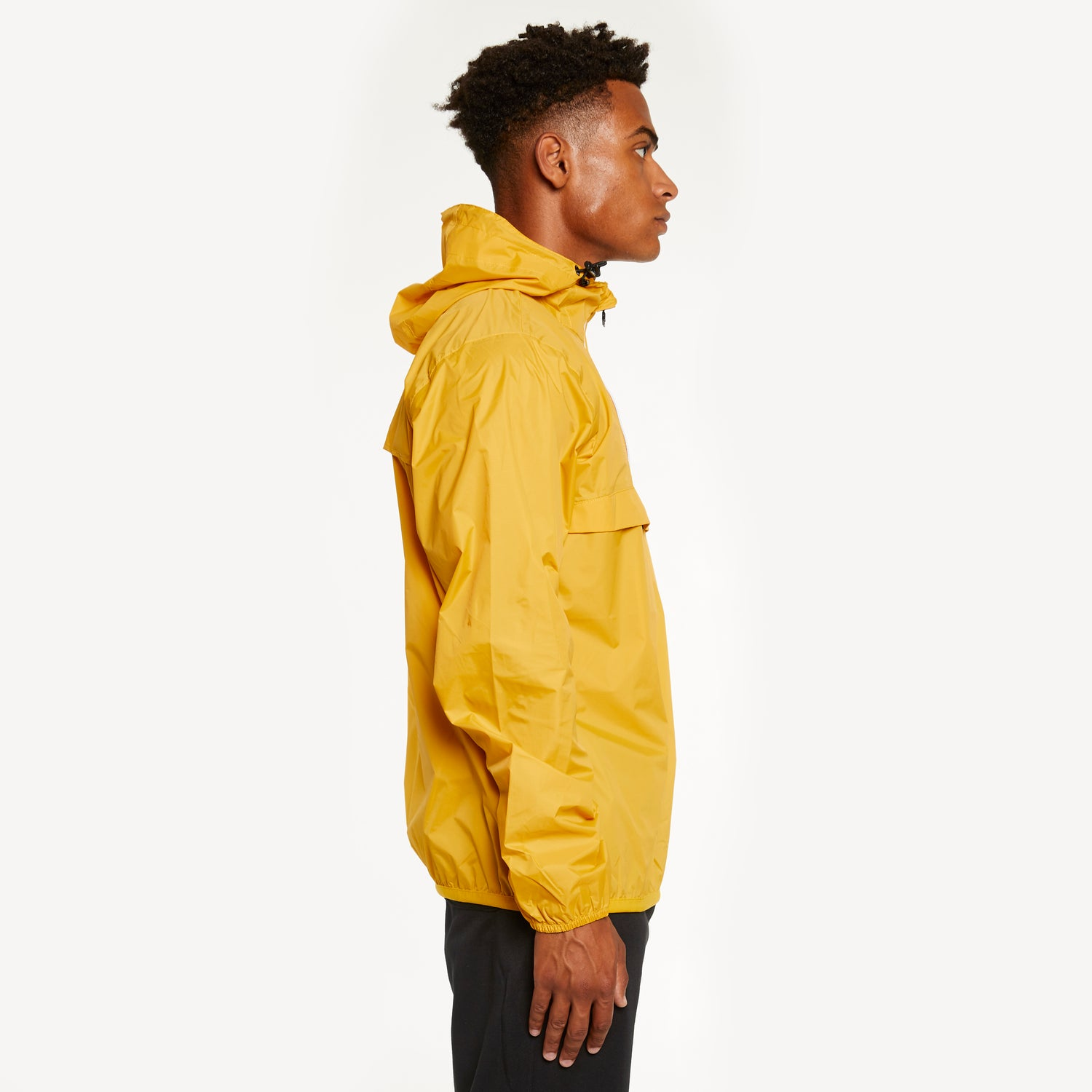 K-Way Men's Le Vrai 3.0 Leon Half Zip Yellow Mustard