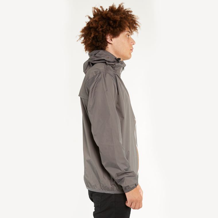 K-Way Men's Le Vrai 3.0 Claude Full Zip Jacket Grey Smoke