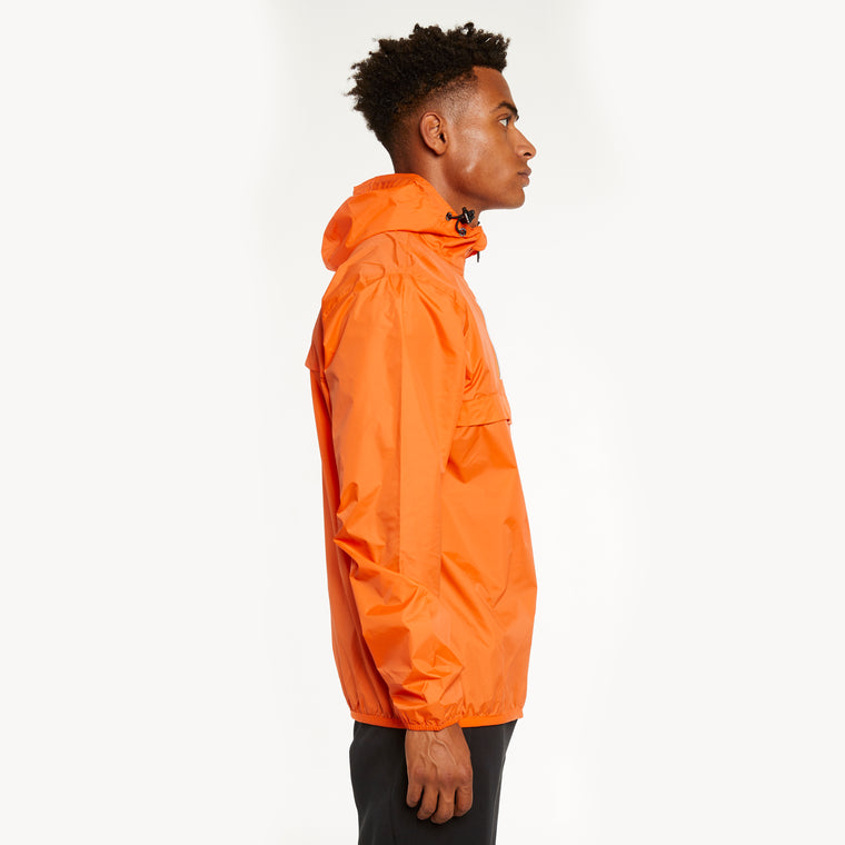 K-Way Men's Le Vrai 3.0 Leon Half Zip Jacket Orange Flame