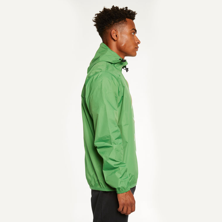 K-Way Men's Le Vrai 3.0 Claude Full Zip Jacket Green Md