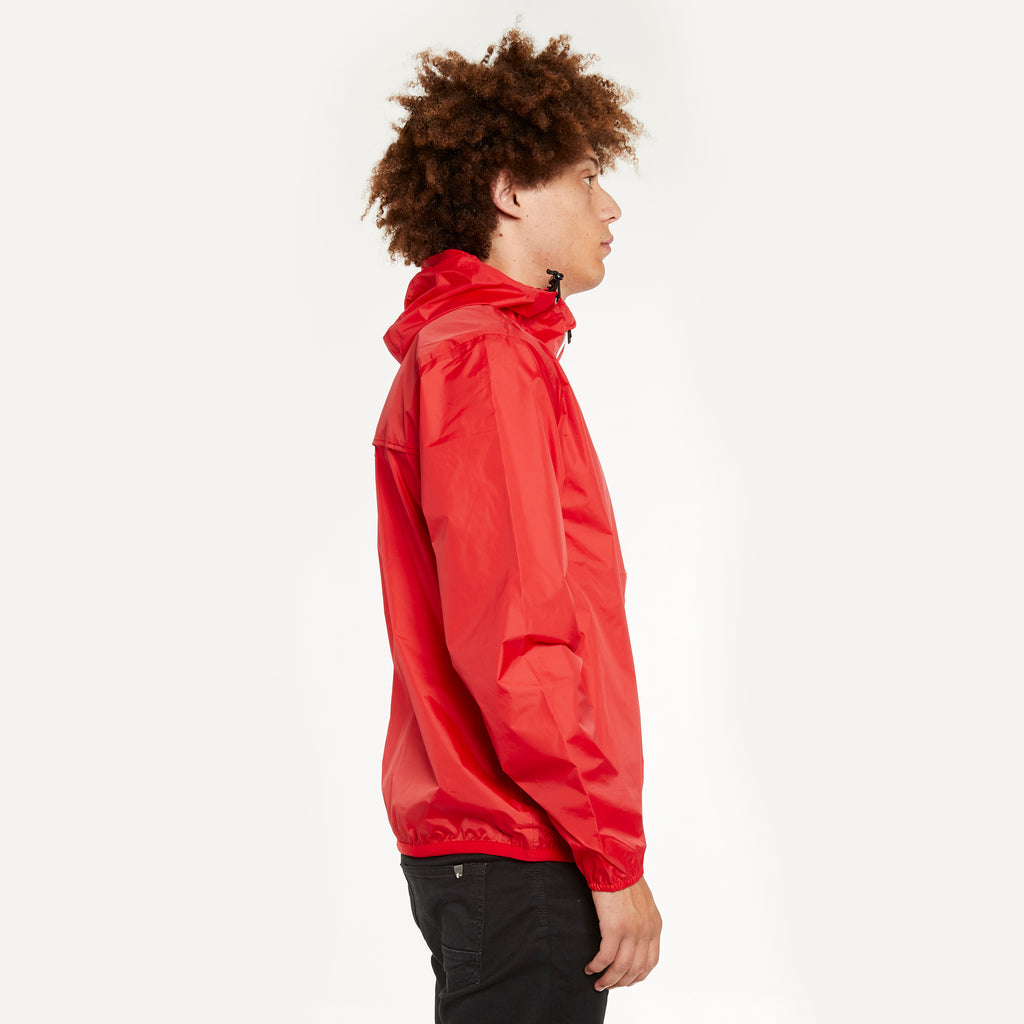 K-Way Men's Le Vrai 3.0 Claude Full Zip Jacket Red
