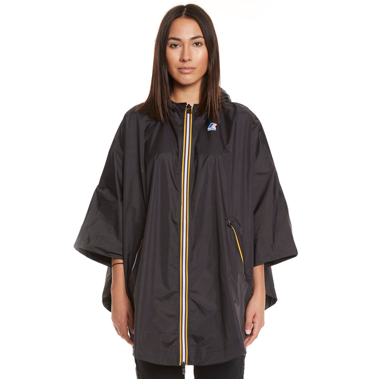 Women's Le Vrai 3.0 Morgan Full Zip Poncho Black